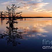 Watching The Sunset At Ba Steinhagen Lake Martin Dies Jr. State Park - Jasper East Texas Poster