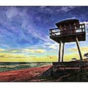 Watchtower On The Beach Poster