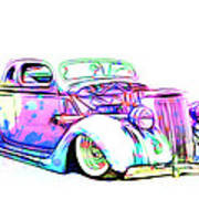 Water Colors 36 Ford Poster