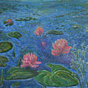 Water Lilies Lounge 2 Poster by Felicia Tica