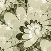 Water Lilies Spirals Poster