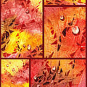 Water On Color Collage Eight Poster