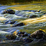 Beautiful Water Reflections On The Flowing Thornapple River Poster