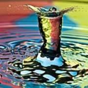 Water Splash Art Poster