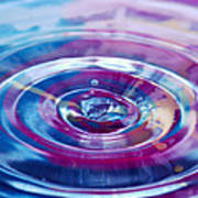 Water Splash Rings Poster