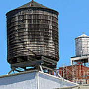 Water Tanks From The High Line Poster