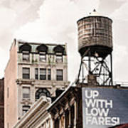 Water Towers 14 - New York City Poster