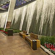 Water Wall - Aria Resort Las Vegas Poster