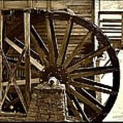 Water Wheel At The Grist Mill Poster