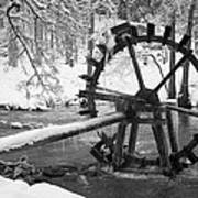 Water Wheel In Snow Poster