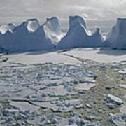 Water Worn Iceberg In Sea Ice Lazarev Poster