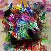 Watercolor Dragon Poster