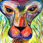 Watercolor Lion Poster