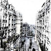 Watercolor Montmartre Poster