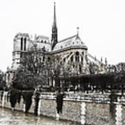 Watercolor Notre Dame Poster