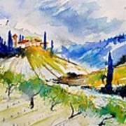 Watercolor Toscana 317040 Poster