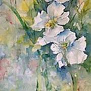 Watercolor Wild Flowers Poster