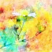 Watercolor Wildflowers - Digital Paint Poster