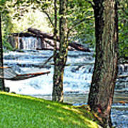 Waterfall And Hammock In Summer 3 Poster