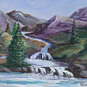 Purple Mountain River Poster