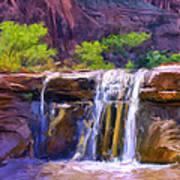 Waterfall At Coyote Creek Poster