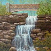 Waterfall At East Hampton Poster