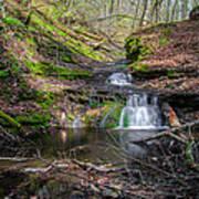 Waterfall At Parfrey's Glen Poster