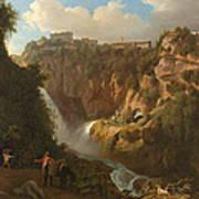 Waterfall At Tivoli Poster