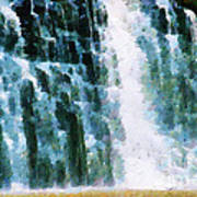 Waterfall Closeup Painting Poster