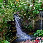 Waterfall Garden Poster