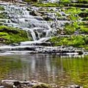 Waterfall In The Forest In Autumn Season  Poster