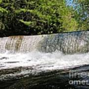Waterfall In Woodstock Vermont Poster