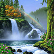 Waterfall Poster by Jerry LoFaro