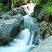 Waterfall Near Paradise Poster