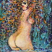 Waterfall Nude Poster