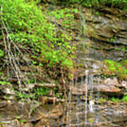 Waterfall On The Way To Thurmond Poster
