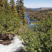 Waterfall Outside Lake Mcleod California Poster