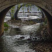 Waterfall Under Railroad Tracks Poster