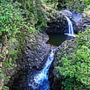 Waterfalls And Pools Maui Hawaii Poster