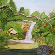 Waterfalls At Red Butte Garden Poster