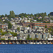 Waterfront Living On Lake Union Poster