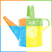 Watering Can Pop Art Poster