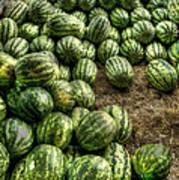 Watermelon Man Watermelon Stand Poster by William Fields