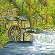 Watermill In The Woods Poster