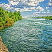 Waters Feeding Niagara Falls Poster