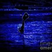 Water's Up In Neon Tweaked Poster