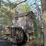 Waterwheel At Stone Mountain Poster