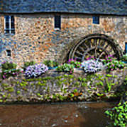 Waterwheel In Brittany Poster