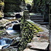 Watkins Glen Exiting The Trail Poster