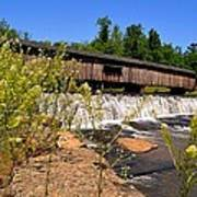 Watson Mill Covered Bridge From The Jetty Poster